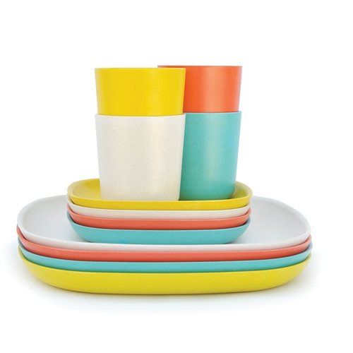 Ekobo Gusto 12-Piece Lunch Set Bamboo Fiber FRESH - 4 colours