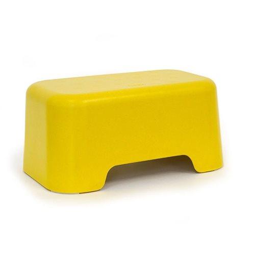 Ekobo Baño Kinder Tritthocker Bambusfaser 32x19x15 cm - Lemon