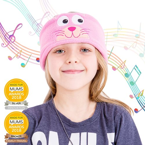 Snuggly Rascals v.2 - Over-ear Headphones for Kids - Cat - Fleece