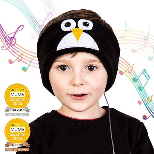 Snuggly Rascals v.2 - Über-Ohr-Kopfhörer für Kinder - Pinguin - Fleece