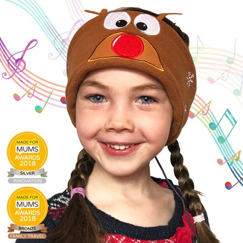 Snuggly Rascals v.2 - Over-ear Headphones for Kids - Reindeer - Fleece
