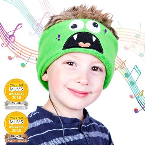 Snuggly Rascals v.2 - Über-Ohr-Kopfhörer für Kinder - Monster - Baumwolle