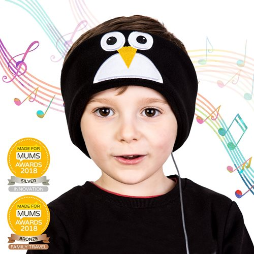 Snuggly Rascals v.2 - Over-ear Headphones for Kids - Penguin - Cotton