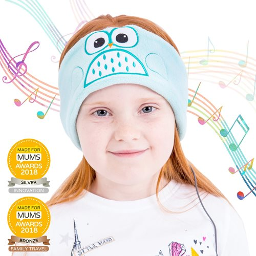 Snuggly Rascals v.2 - Über-Ohr-Kopfhörer für Kinder - Eule - Baumwolle
