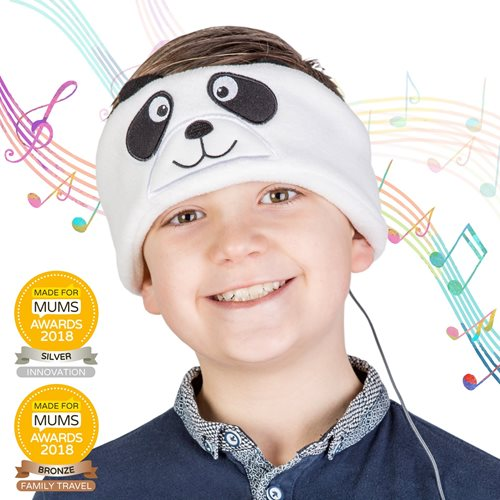Snuggly Rascals v.2 - Over-ear Headphones for Kids - Panda - Cotton