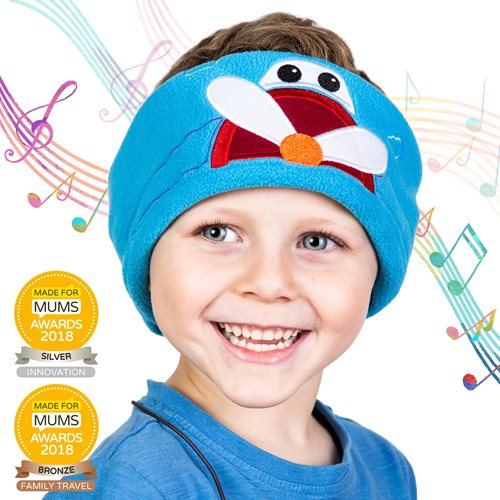 Snuggly Rascals v.2 - Over-ear Headphones for Kids - Plane - Cotton
