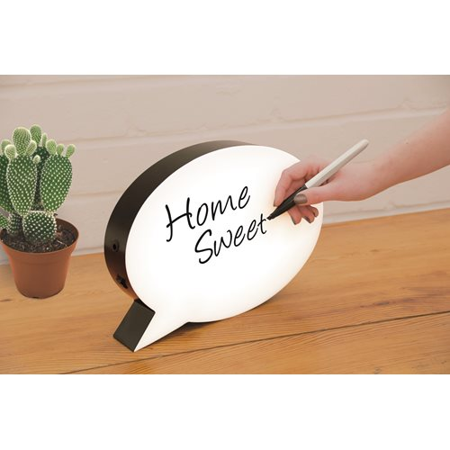Fizz Creations Writable Light Box Speech Bubble with LED Lights