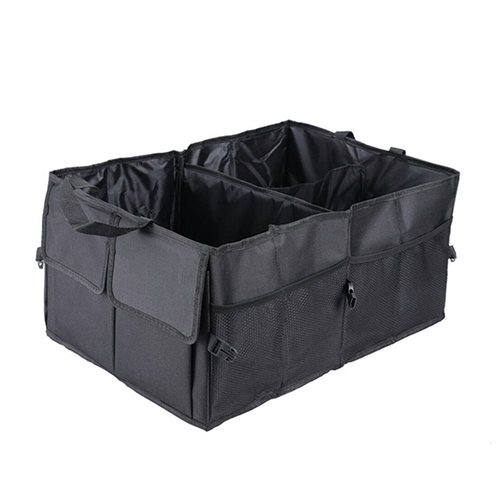 United Entertainment - Car Trunk Collapsible Organizer and Storage - 52x38x26 cm - Black
