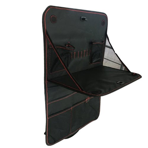 United Entertainment - Backseat Car Organizer with Foldable Table - 38x60 cm - Black
