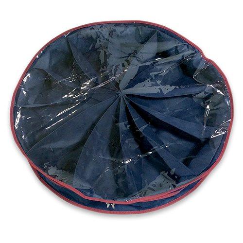 United Entertainment - Faltbare Schuhablage mit 12 Fächern und Transparentem Deckel - Rund - 75x75x16 cm - Blau
