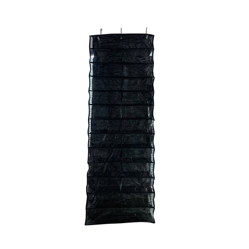 United Entertainment - Over Door Hanging Shoe Storage - 56x16.5x150 cm - Black