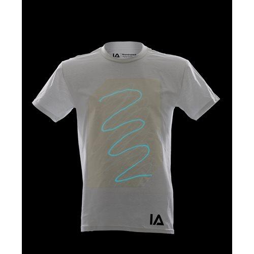 IA Interactive Glow T-Shirt Super Aqua - White (XL)