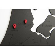 MiMi Innovations Luxury Wooden Country Map - Wall Decoration - Nederland - 92x69 cm/36.2x27.2 inch - Black