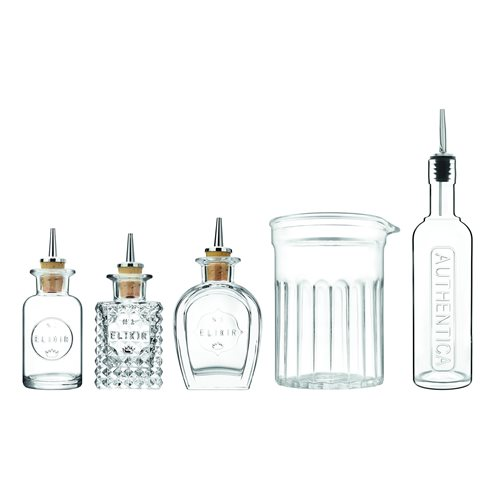 Luigi Bormioli Mixology - Combined Bar Set - 5-piece