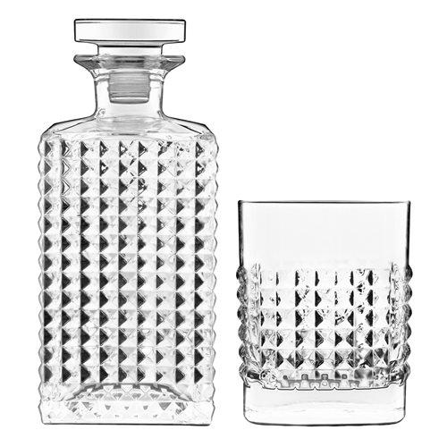 Luigi Bormioli Elixir - Whisky Set met Karaf 75 cl / 25,25 oz en 4 Whiskyglazen 38 cl / 12,75 oz