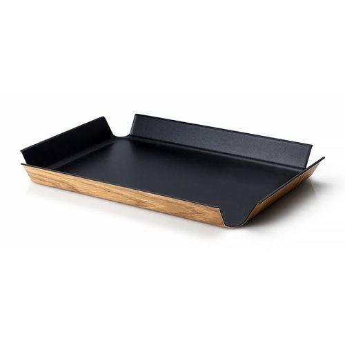 Continenta Tablett mit Rutschfeste Oberflächenbeschichtung - 45x34cm - Schwarz