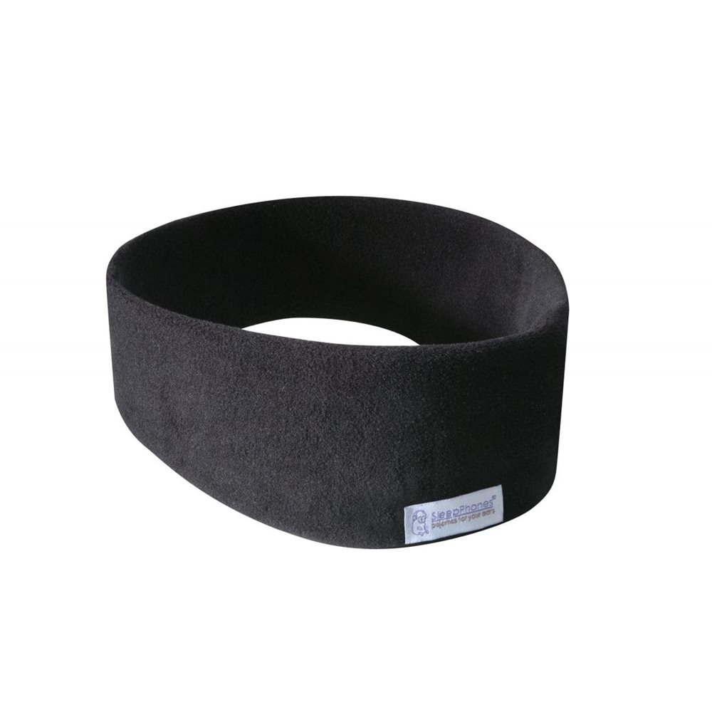 SleepPhones® Wireless Fleece Midnight Black - Medium