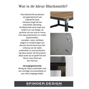 Spinder Design John Pilar 20x20x60 - Blacksmith/Oak