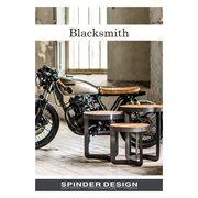 Spinder Design Clint 3 Coat Rack with Shelf - Blacksmith/Oak