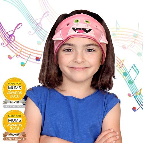 Snuggly Rascals v.2 - Über-Ohr-Kopfhörer für Kinder - Hai Rosa - Baumwolle