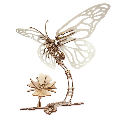 Ugears Holzbausatz - Mechanische Schmetterling