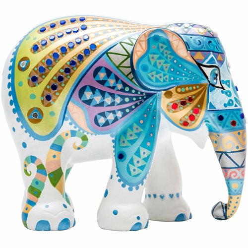 Elephant Parade Mosaic Wings - Hand-Crafted Elephant Statue - 15 cm