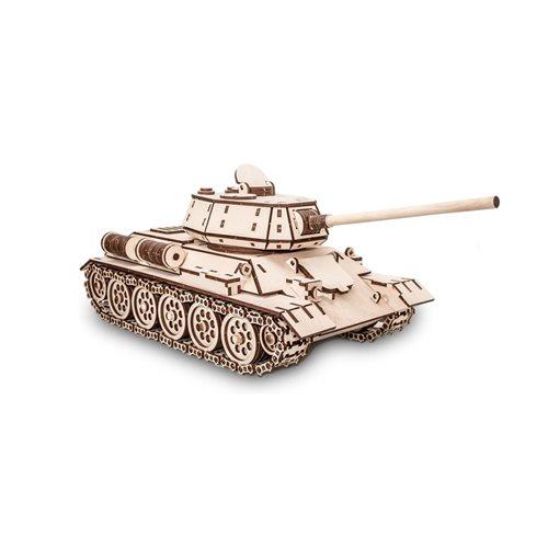 Eco-Wood-Art Tank T-34 - Wooden Model Kit
