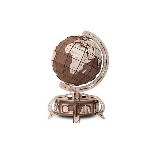 Eco-Wood-Art Globe - Wooden Model Kit - Brown