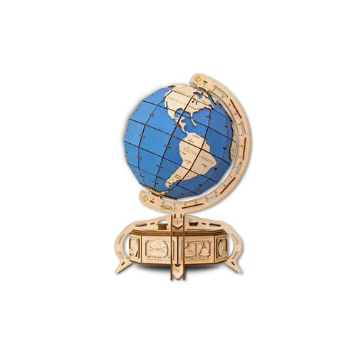 Eco-Wood-Art Globe - Wooden Model Kit - Blue