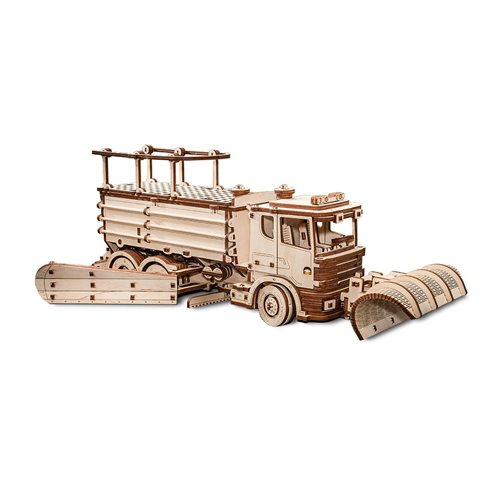 Eco-Wood-Art Snowtruck - Wooden Model Kit