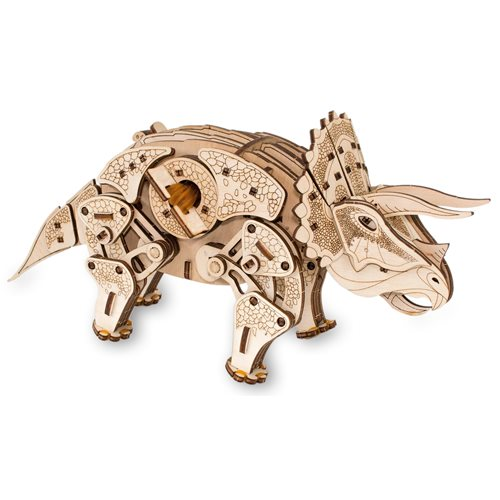 Eco-Wood-Art Triceratops - Wooden Model Kit