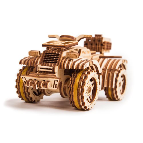 Wood Trick Wooden Model Kit - Quad Bike