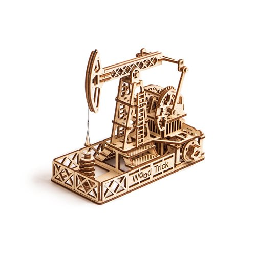 Wood Trick Wooden Model Kit - Oil Derrick