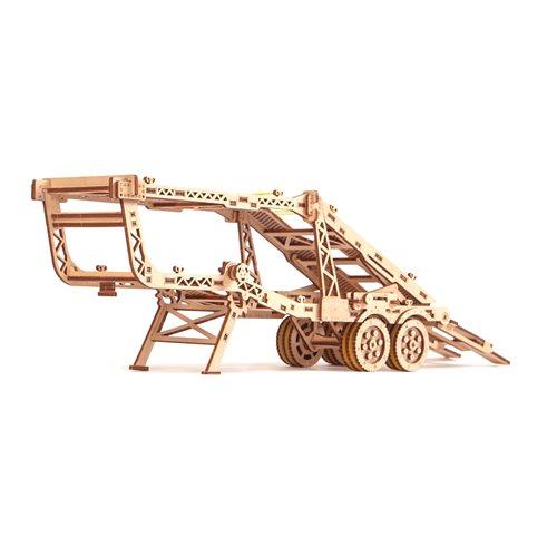 Wood Trick Holz Modell Kit - Auto Anhänger mit Jeep - Zusatz für LKW