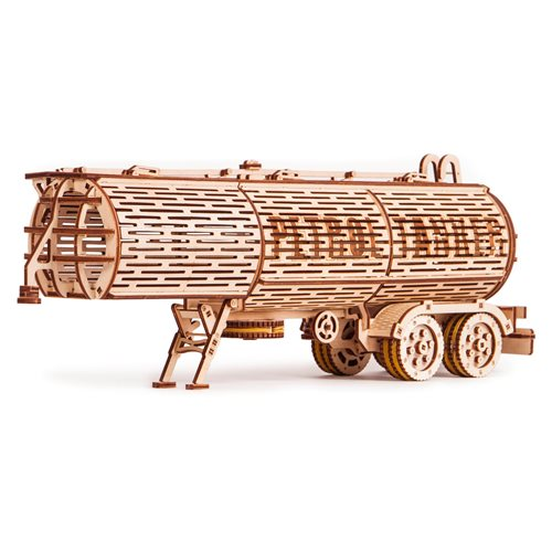 Wood Trick Wooden Model Kit - Tank Trailer - addition for Big Rig