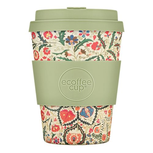Ecoffee Cup Papafranco - Bamboo Cup - 350 ml - with Light Green Silicone