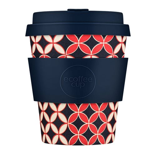 Ecoffee Cup Master Spiros - Bamboo Cup - 250 ml - with Dark Blue Silicone