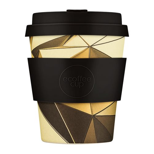 Ecoffee Cup Swanston & Collins - Bamboo Cup - 250 ml - with Black Silicone