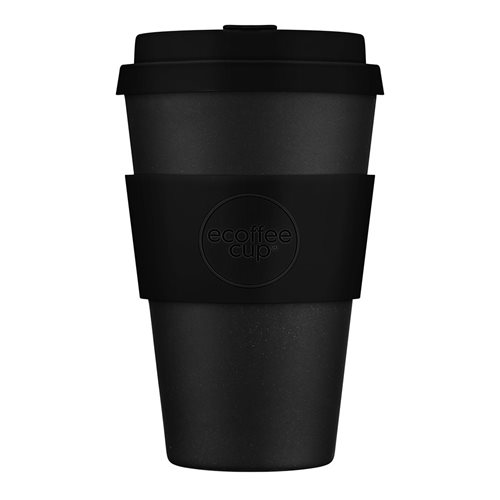 Ecoffee Cup Kerr & Napier - Bamboo Cup - 400 ml - with Black Silicone