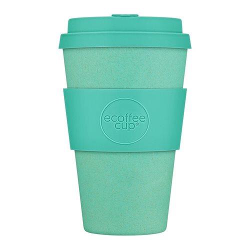 Ecoffee Cup Inca - Bamboo Cup - 400 ml - with Turquoise Silicone