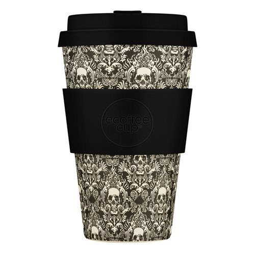Ecoffee Cup Milperra Mutha - Bamboo Cup - 400 ml - with Black Silicone