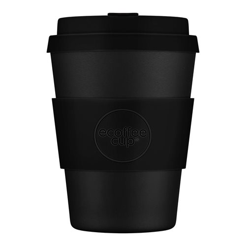 Ecoffee Cup Kerr & Napier - Bamboo Cup - 350 ml - with Black Silicone