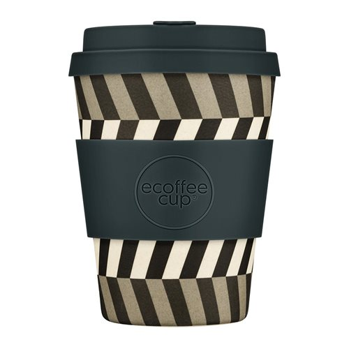 Ecoffee Cup Look Into My Eyes - Bamboo Cup - 350 ml - with Dark Grey Silicone