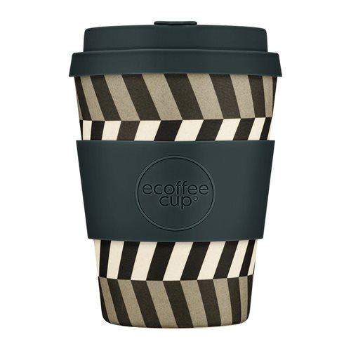 Ecoffee Cup Look into my Eyes - Bamboe Beker - 350 ml - met Donkergrijs Siliconen