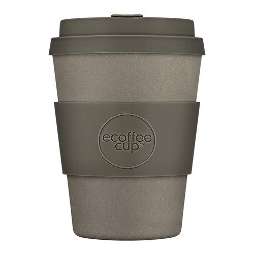 Ecoffee Cup Molto Grigio - Bamboe Beker - 350 ml - met Grijs Siliconen