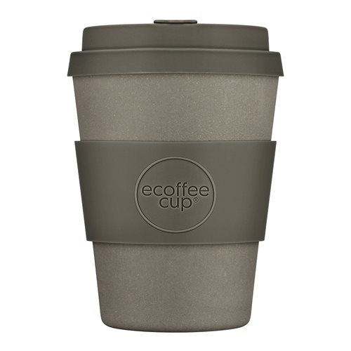 Ecoffee Cup Molto Grigio - Bamboo Cup - 350 ml - with Grey Silicone