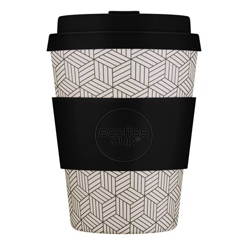 Ecoffee Cup Bonfrer - Bamboo Cup - 350 ml - with Black Silicone