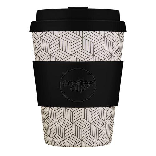 Ecoffee Cup Bonfrer - Bamboe Beker - 350 ml - met Zwart Siliconen
