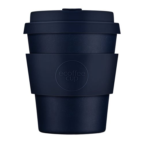 Ecoffee Cup Dark Energy - Bamboo Cup - 250 ml - with Dark Blue Silicone