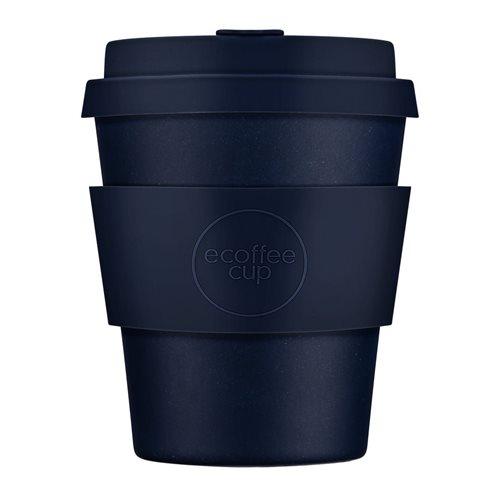 Ecoffee Cup Dark Energy - Bamboe Beker - 250 ml - met Donkerblauw Siliconen
